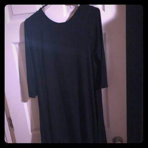 Fun black swing dress NWT